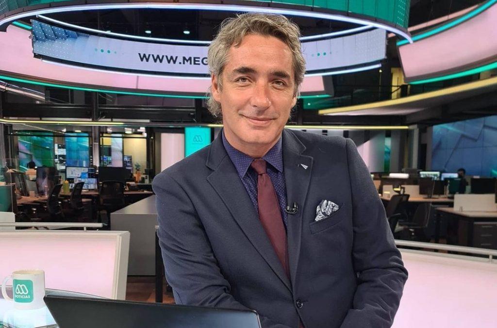 El periodista José Luis Reppening a los besos periodista mega