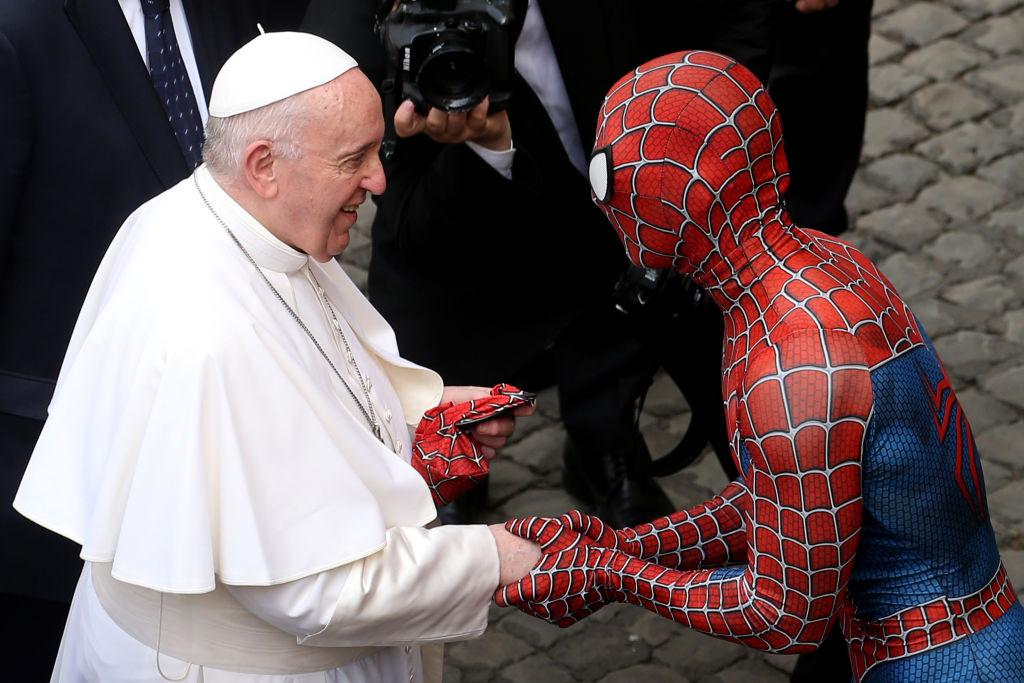 Papa Francisco encuentro con Spiderman
